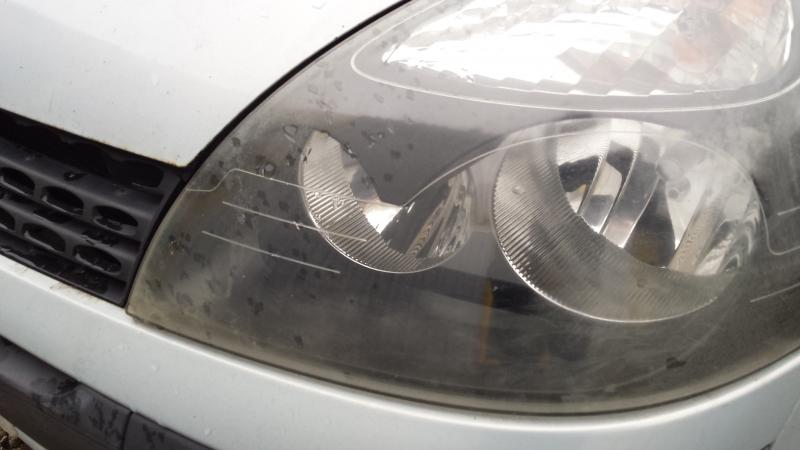 Headlamp Lens Before Refurbishment